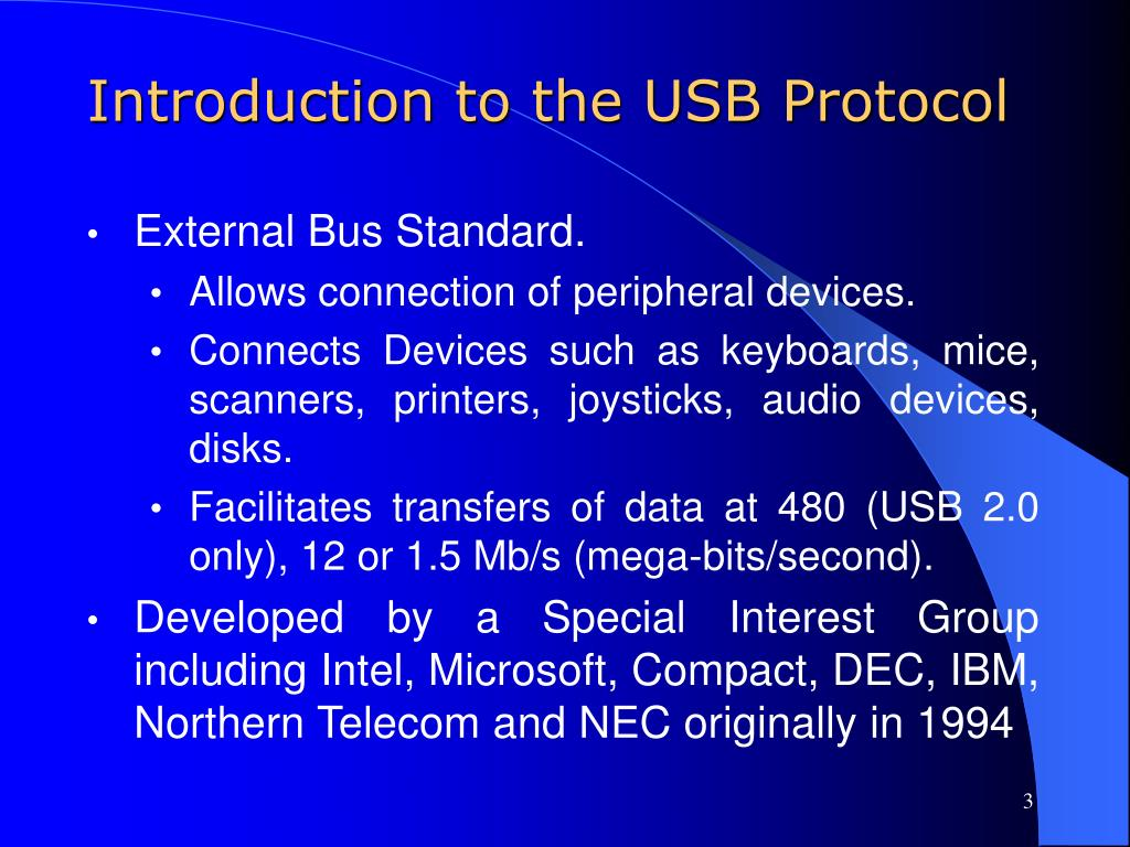 Introduction to the USB Protocol