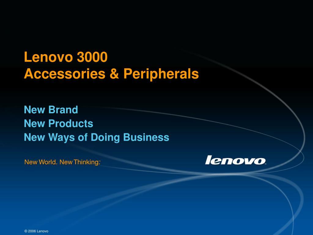 lenovo 3000 accessories peripherals l.