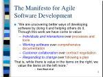 the manifesto for agile software development
