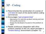 xp coding