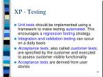 xp testing