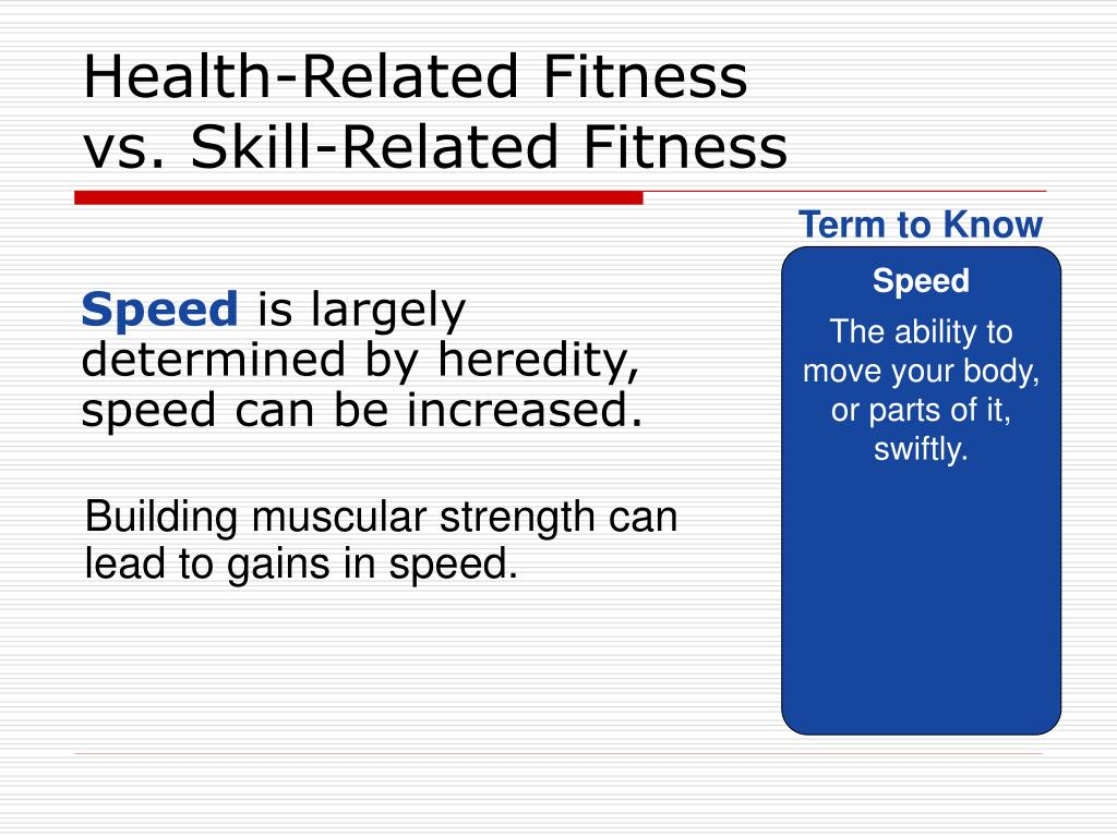 Building Muscular Strength Can Lead To Gains In Speed