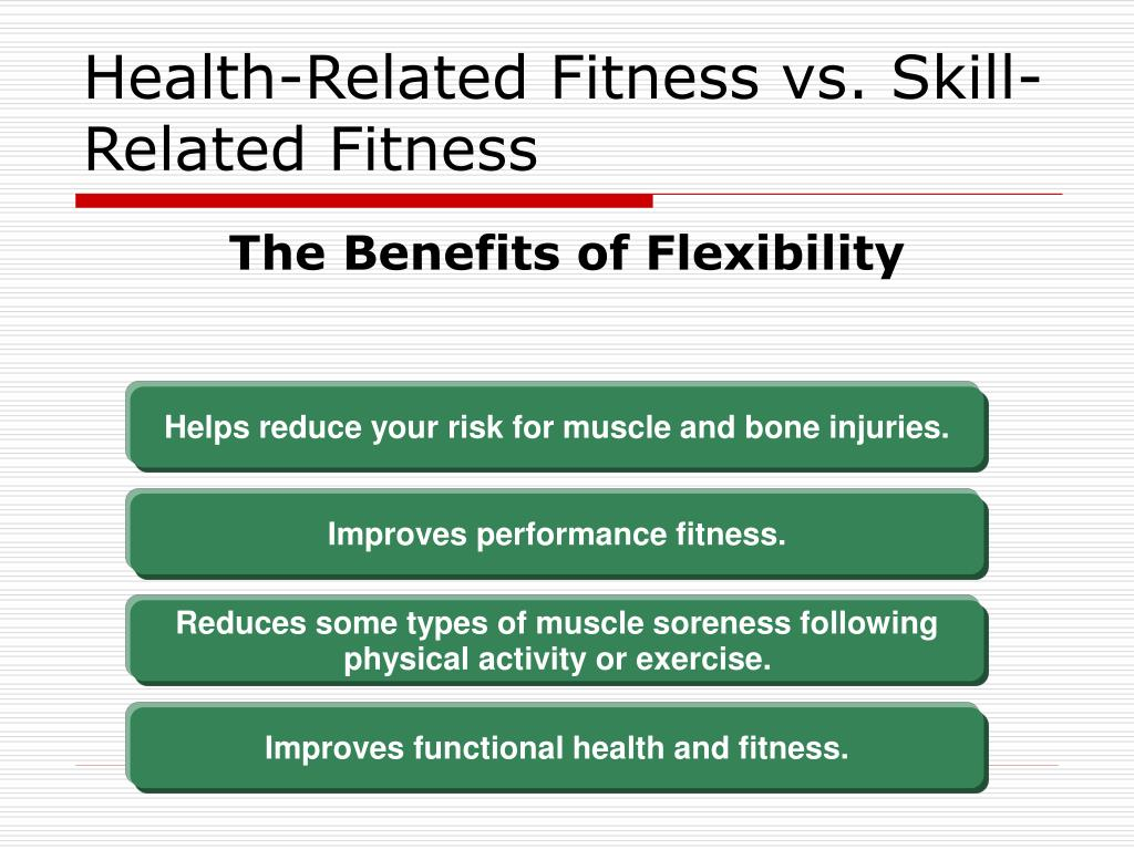 skill related fitness Learn about and revise health, fitness and exercise in sporting and life performance  how fitness can be broken down into different skill-related components,.