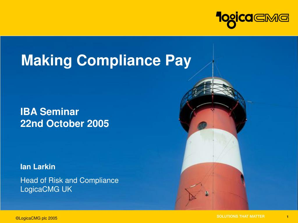 making compliance pay l.