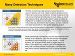 many detection techniques