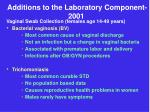 additions to the laboratory component 2001