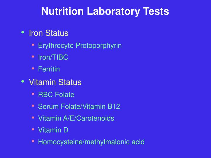 Nutrition Laboratory Tests