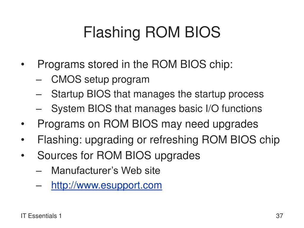 Flashing ROM BIOS