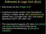 arithmetic logic unit alu