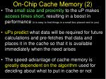 on chip cache memory 2