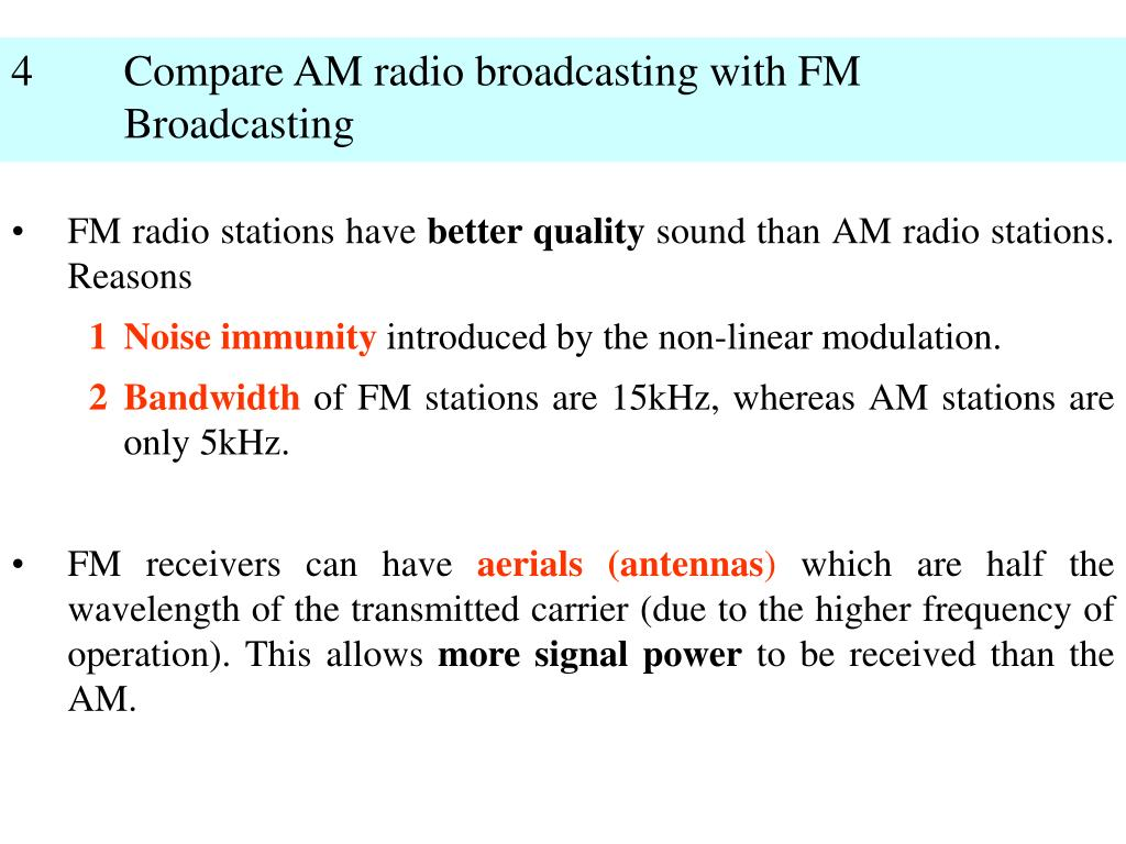 PPT - 1 What are the features of AM Radio Broadcasting