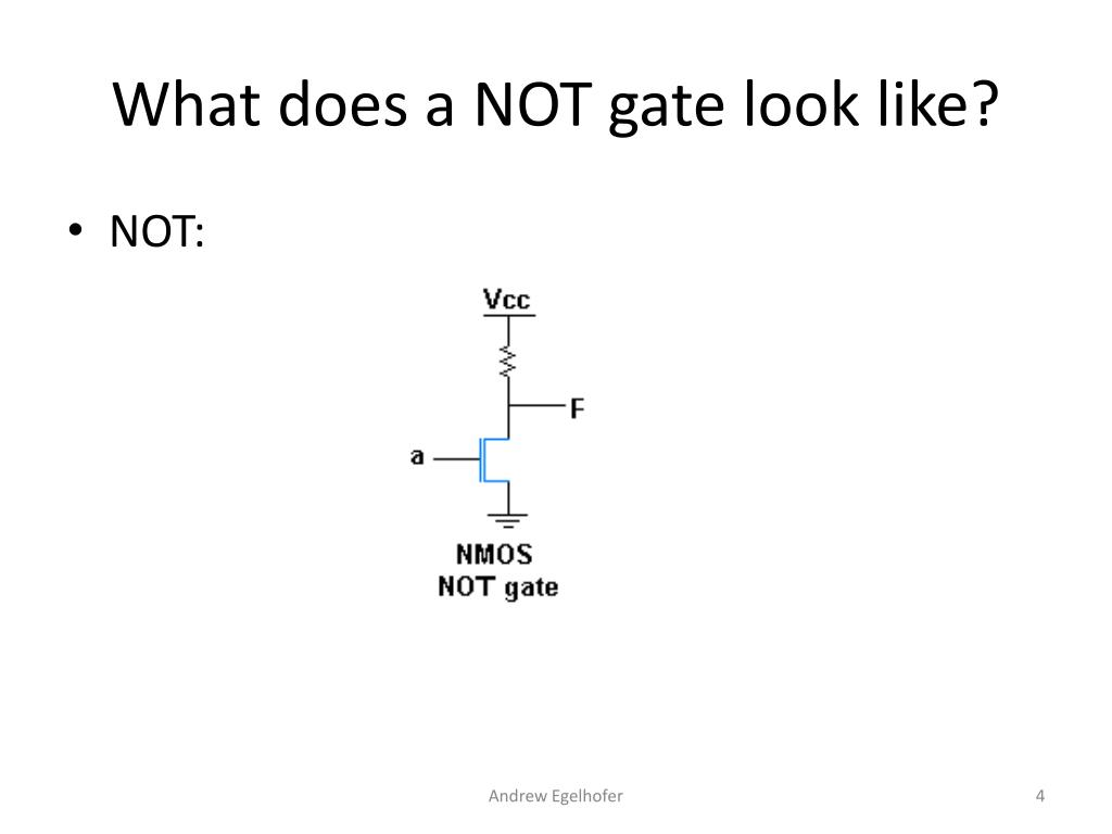 What does a NOT gate look like?