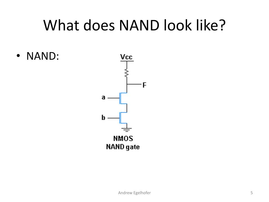 What does NAND look like?