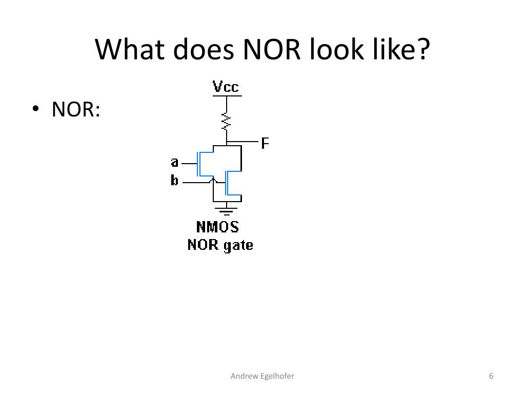 What does NOR look like?
