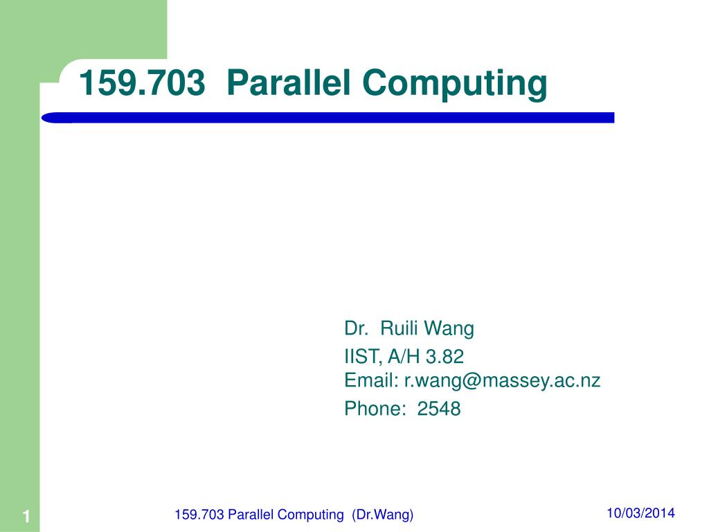 159 703 parallel computing l.