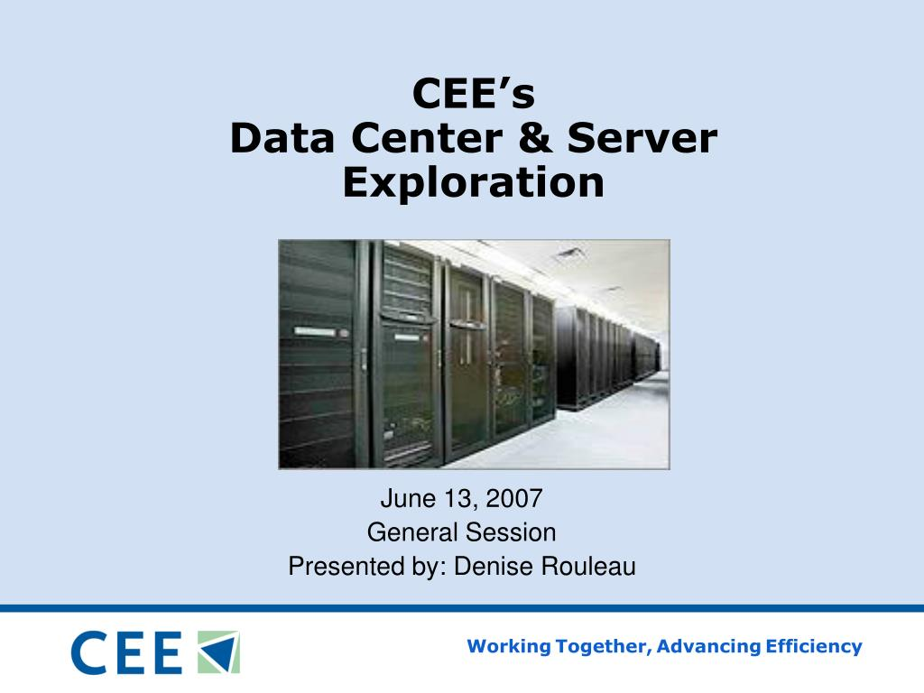 cee s data center server exploration l.