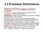 4 3 processor performance