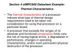 section 4 ofmpc860 datasheet example thermal characteristics