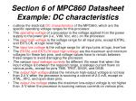 section 6 of mpc860 datasheet example dc characteristics