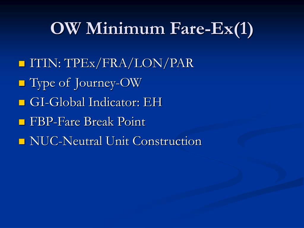 OW Minimum Fare-Ex(1)