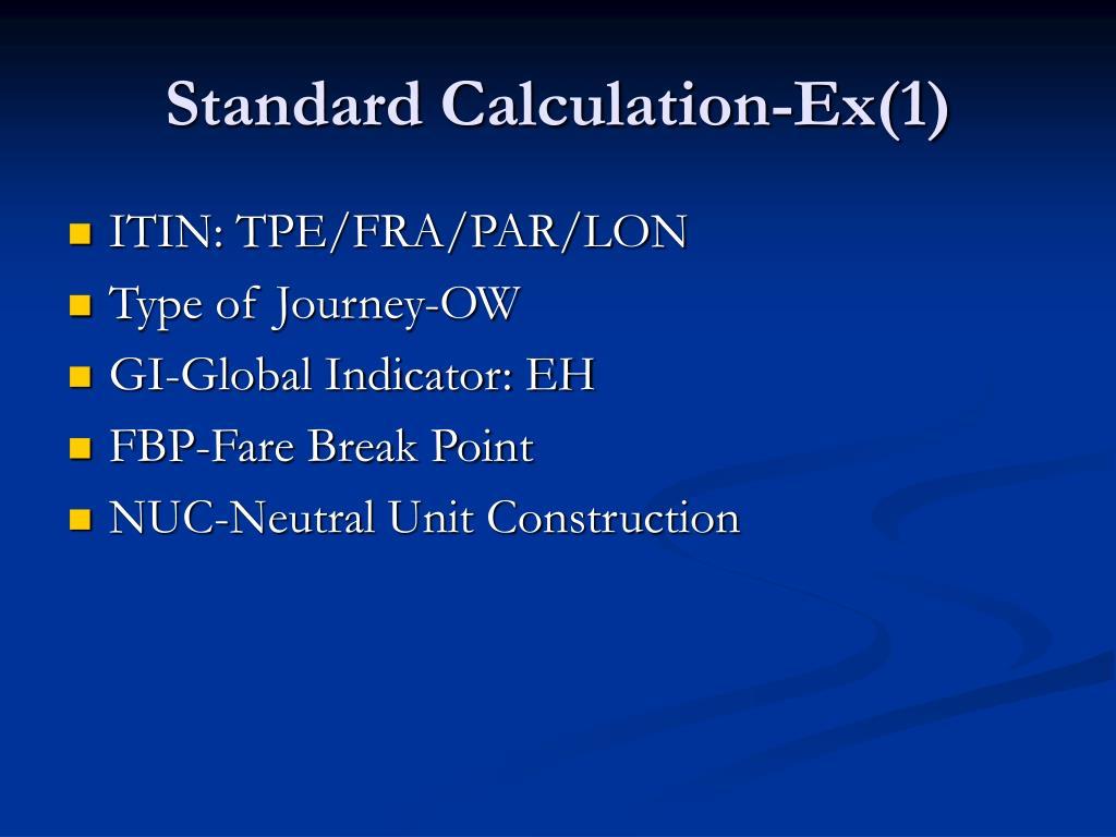 Standard Calculation-Ex(1)