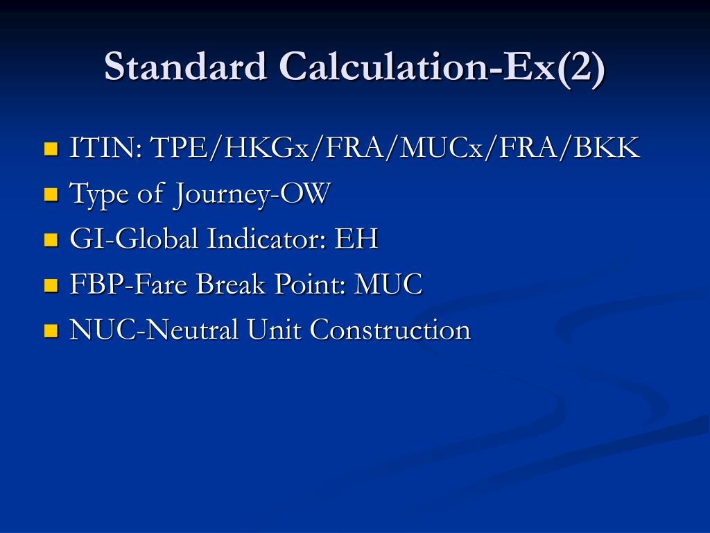 Standard Calculation-Ex(2)
