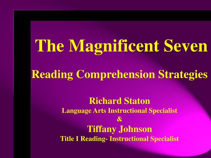 Ppt The Magnificent Seven Powerpoint Presentation Id605463