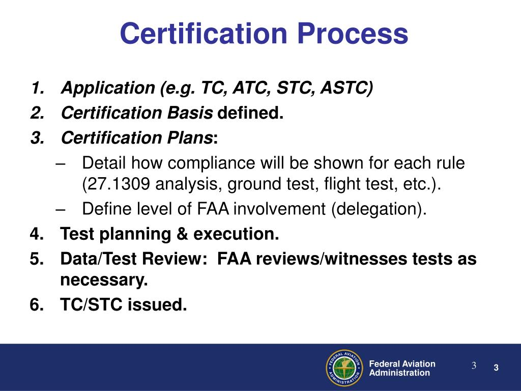 Ppt certification of rotorcraft and fha process powerpoint certification process xflitez Gallery
