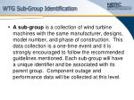 wtg sub group identification19