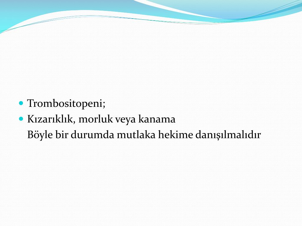 Trombositopeni;