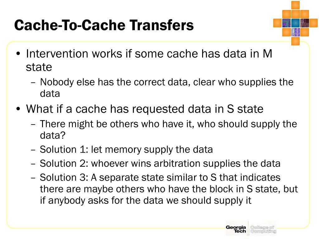Cache-To-Cache Transfers