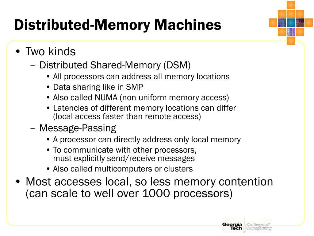 Distributed-Memory Machines