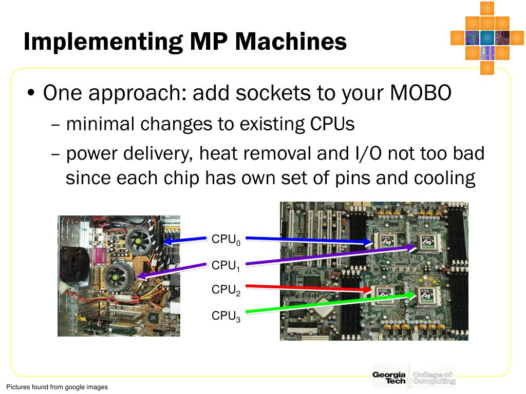 Implementing MP Machines