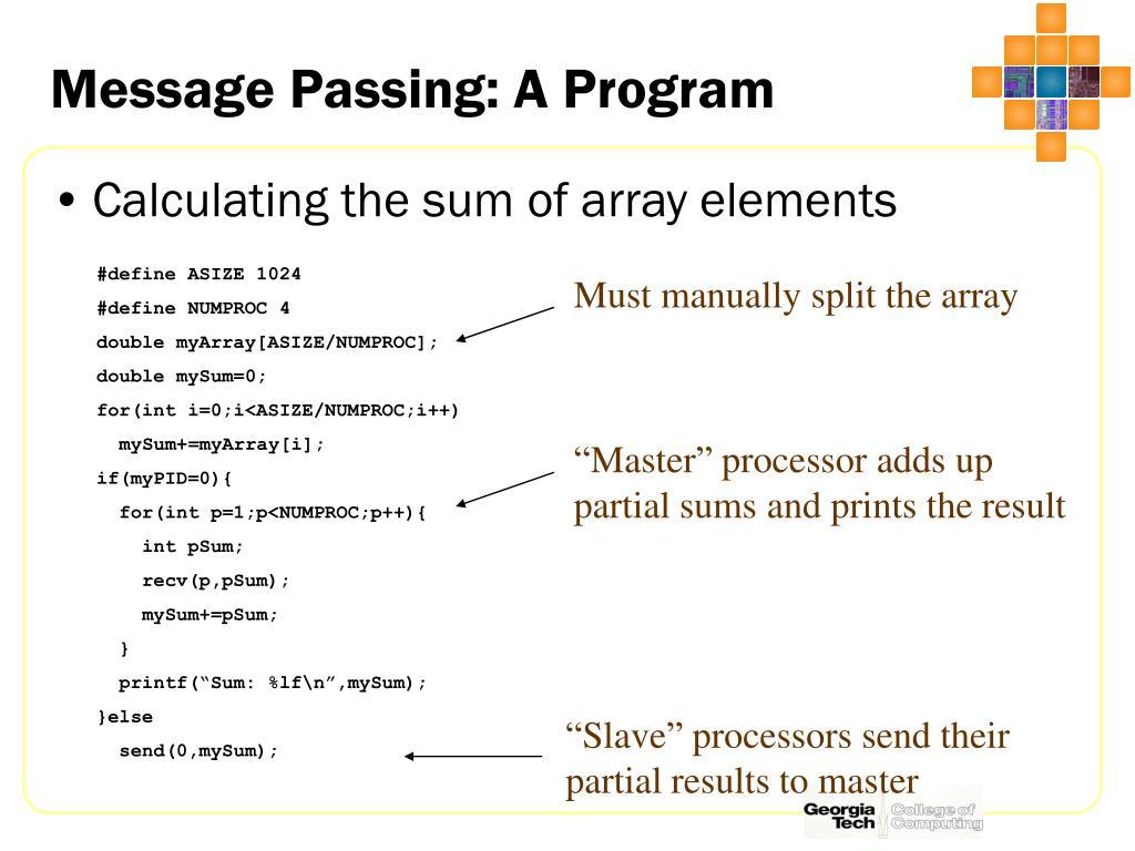 Message Passing: A Program