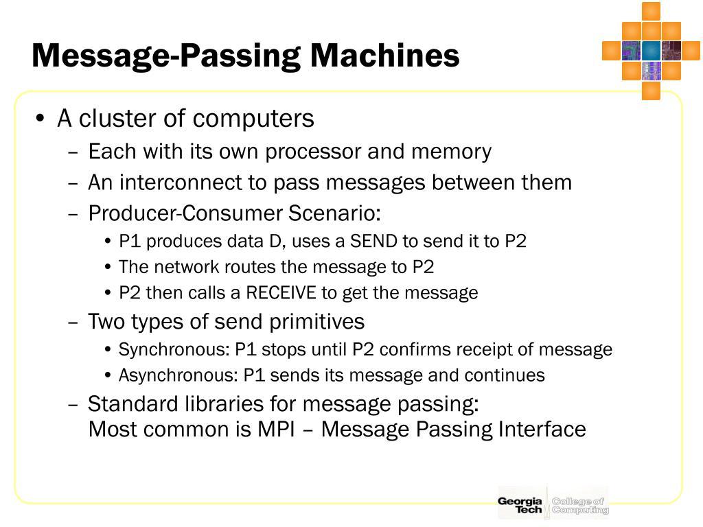 Message-Passing Machines