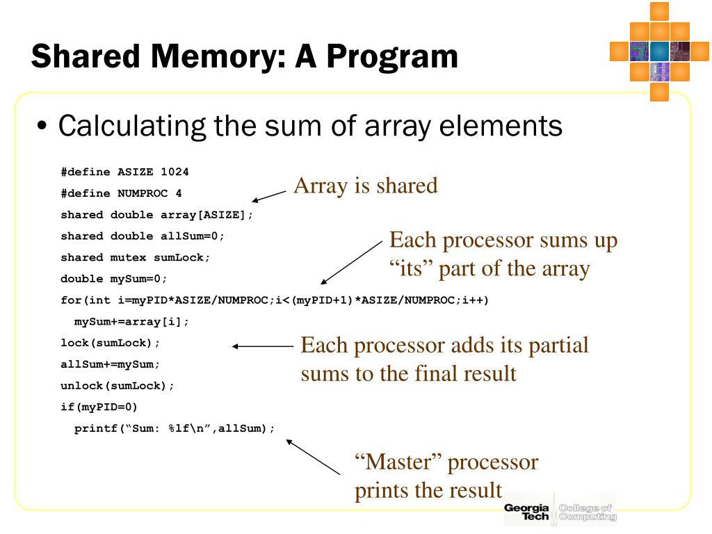 Shared Memory: A Program