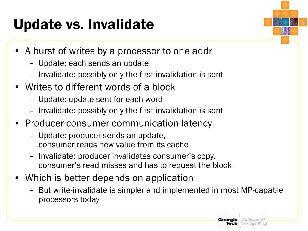 Update vs. Invalidate