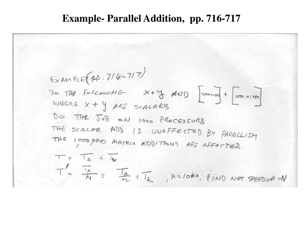 Example- Parallel Addition,  pp. 716-717