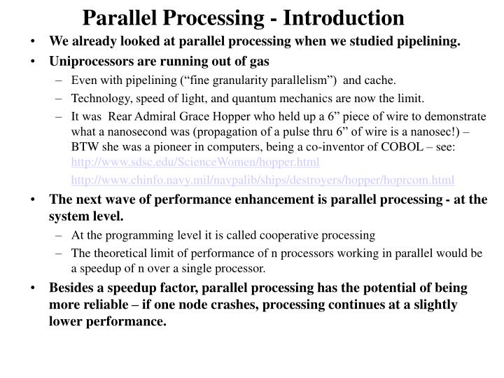 Parallel processing introduction