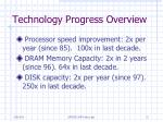 technology progress overview