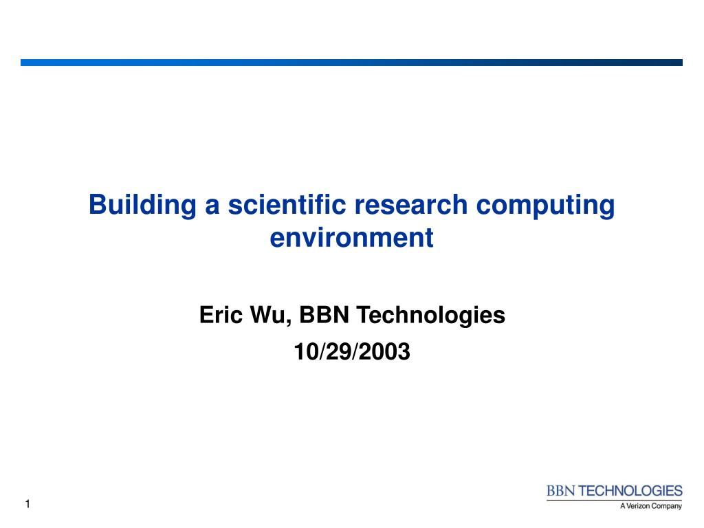 building a scientific research computing environment l.