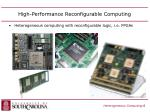 high performance reconfigurable computing