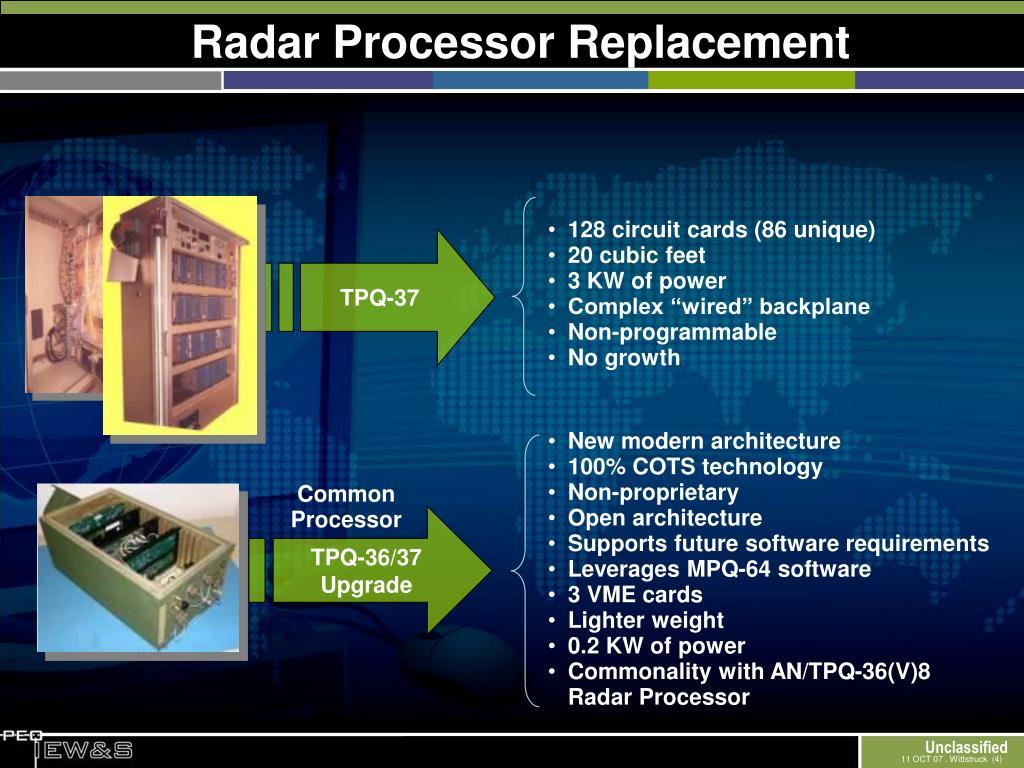 Radar Processor Replacement
