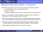 ibm system blue gene solution conclusions