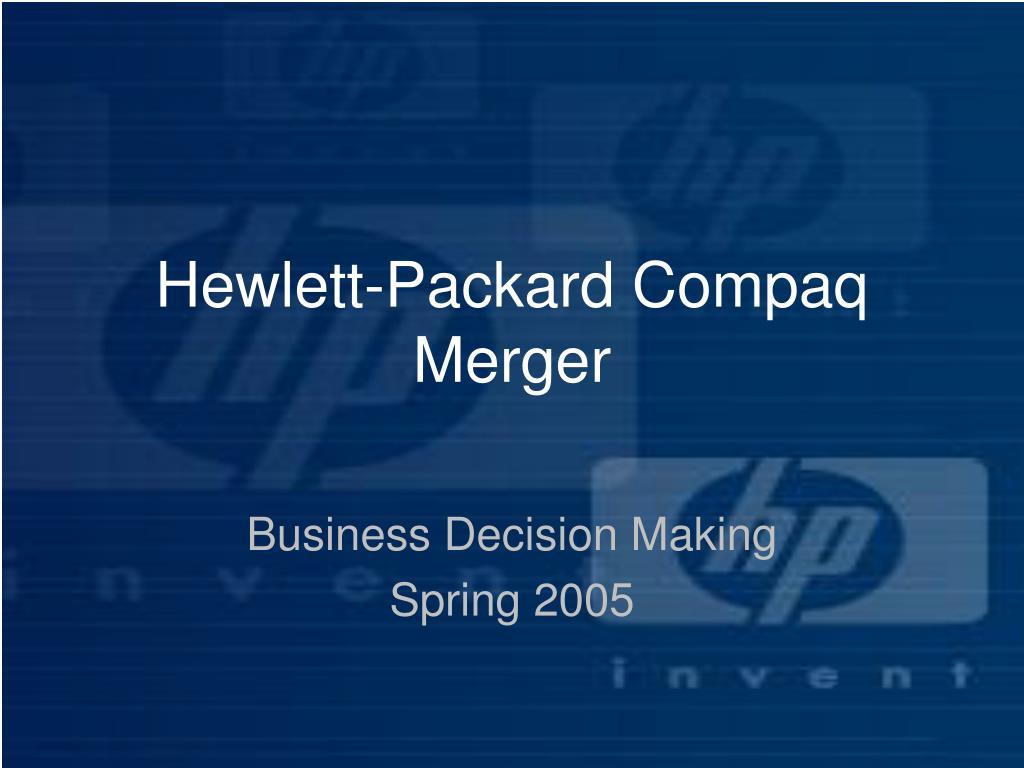 hewlett packard compaq merger