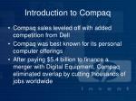 introduction to compaq