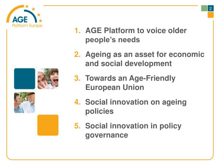 AGE Platform to voice older people's needs