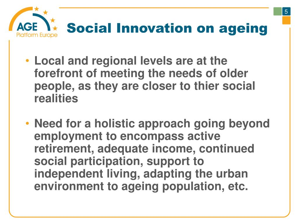Social Innovation on ageing
