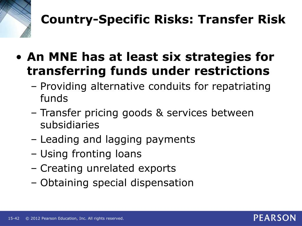 Country-Specific Risks: Transfer Risk