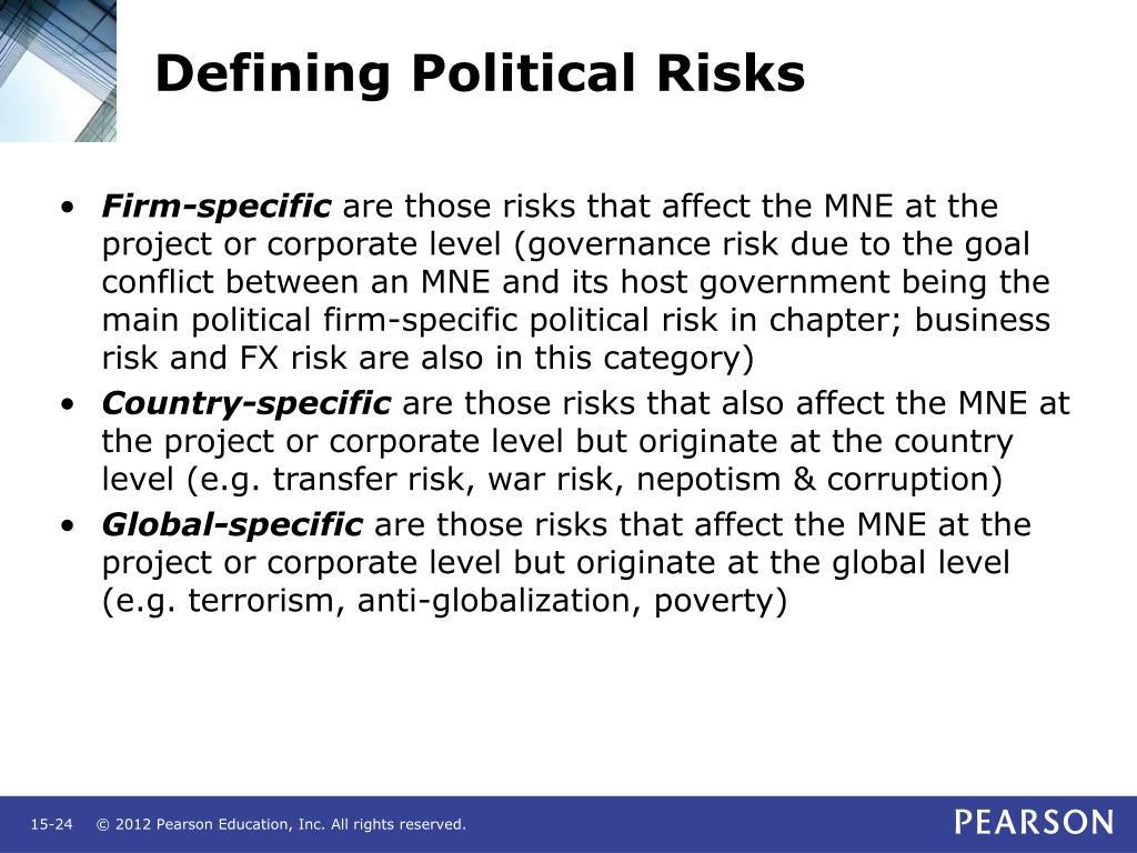 Defining Political Risks
